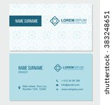 visiting card with abstract...   Shutterstock .eps vector #383248651