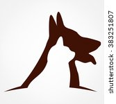 dog footprint. paw print logo.   Shutterstock .eps vector #383251807