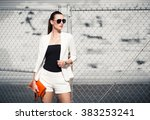 street fashion. | Shutterstock . vector #383253241