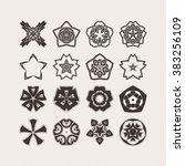set of ornate mandala symbols.... | Shutterstock . vector #383256109