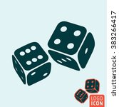dice icon. game dices icon... | Shutterstock .eps vector #383266417