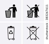 trash can icons. waste... | Shutterstock .eps vector #383267611