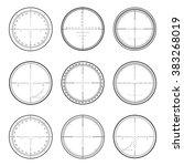 set of military crosshair...   Shutterstock .eps vector #383268019
