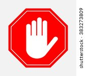 a red octagonal stop sign  stop ... | Shutterstock .eps vector #383273809