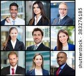 portrait of smiling business... | Shutterstock . vector #383276185