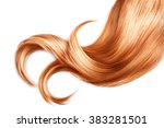 red hair isolated over white... | Shutterstock . vector #383281501