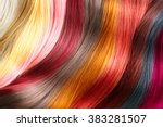 hair colors palette. hair... | Shutterstock . vector #383281507