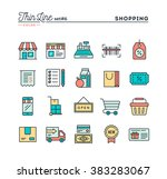 shopping  retail  delivery ... | Shutterstock .eps vector #383283067