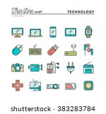 technology  devices  gadgets...   Shutterstock .eps vector #383283784