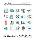social media  communication ... | Shutterstock .eps vector #383285551