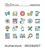 digital marketing  online... | Shutterstock .eps vector #383286007