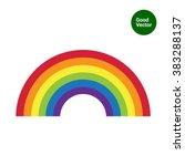 rainbow icon | Shutterstock .eps vector #383288137