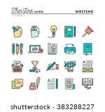writing  blogging  best seller... | Shutterstock .eps vector #383288227