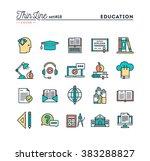 education  online books ... | Shutterstock .eps vector #383288827