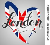 london lettering. hand written... | Shutterstock .eps vector #383288869