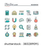 science  experiments ... | Shutterstock .eps vector #383289091