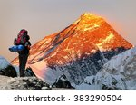 Evening Colored View Of Mount...