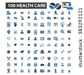 health care icons | Shutterstock .eps vector #383292121