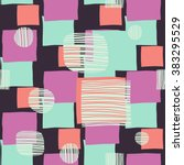 hand drawn arty pattern in... | Shutterstock .eps vector #383295529