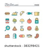 food  meat  vegetables and more ... | Shutterstock .eps vector #383298421