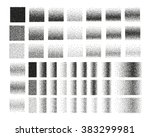 set of 51 square stipple...