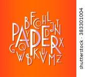 regular sans serif font in... | Shutterstock .eps vector #383301004
