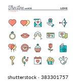 love  valentine's day  dating ... | Shutterstock .eps vector #383301757