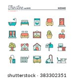 home  interior  furniture and... | Shutterstock .eps vector #383302351