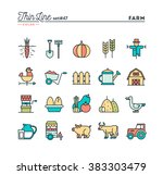 farm  animals  land  food... | Shutterstock .eps vector #383303479