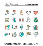 humanitarian  peace  justice ... | Shutterstock .eps vector #383303971