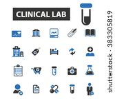 clinical lab icons | Shutterstock .eps vector #383305819