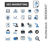 seo marketing icons | Shutterstock .eps vector #383306947