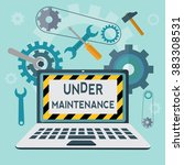 under maintenance vector concept | Shutterstock .eps vector #383308531