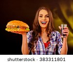 Girl Keeps Big Hamburger And...