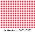 textured red and white plaid... | Shutterstock .eps vector #383315539