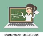 online education. online... | Shutterstock .eps vector #383318905