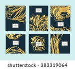 vector set ink texture ... | Shutterstock .eps vector #383319064