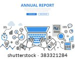 annual financial report concept ...