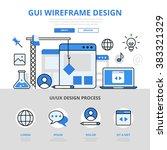 gui wireframe design concept...