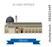 al aqsa mosque in israel. flat...   Shutterstock .eps vector #383321449