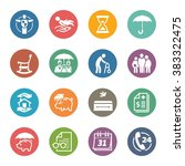 life protection icons   dot... | Shutterstock .eps vector #383322475