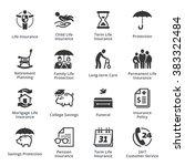 life insurance icons | Shutterstock .eps vector #383322484