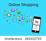 digital marketing and e... | Shutterstock . vector #383322754