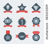 award icon collection vector... | Shutterstock .eps vector #383323309