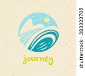 vector logo travel company.... | Shutterstock .eps vector #383323705