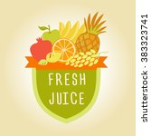 logo symbol for fresh juice.... | Shutterstock .eps vector #383323741