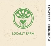grown with love. logo for... | Shutterstock .eps vector #383324251