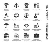 business insurance icons | Shutterstock .eps vector #383325781