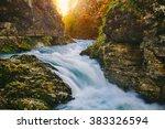 the famous vintgar gorge canyon ... | Shutterstock . vector #383326594