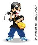 rapper | Shutterstock .eps vector #383329234